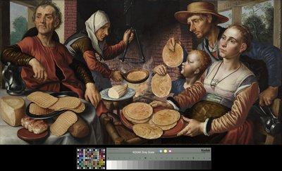 Werk uit Collectie Museum Boijmans Van Beuningen. Pieter Aertsen, De pannenkoekenbakkerij, 1560. Creditline fotograaf: Studio Tromp