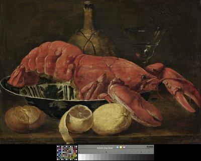 Werk uit Collectie Museum Boijmans Van Beuningen. Joannes Fijt, Een kreeft in een porseleinen schaal, circa 1644. Creditline fotograaf: Studio Tromp