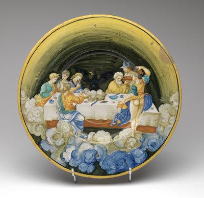 Werk uit Collectie Museum Boijmans Van Beuningen. Nicola da Urbino Schotel, circa 1530. Creditline fotograaf: Tom Haartsen