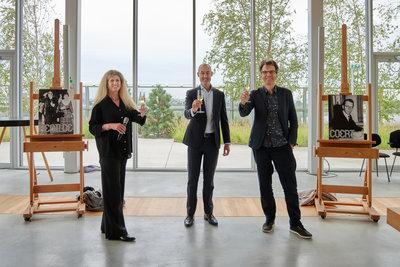 Directeurs Depot en Museum Boijmans Van Beuningen Ina Klaassen en Sjarel Ex met wethouder Said Kasmi. Foto: Aad Hoogendoorn