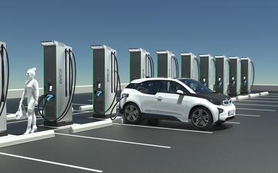 EVBox Ultroniq horizontal parking