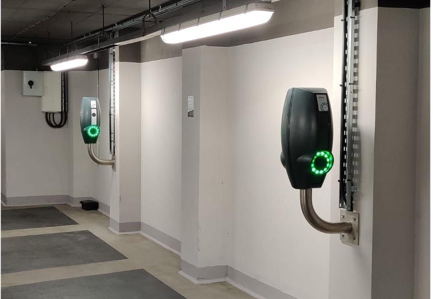 EVBox BusinessLine charging stations at Q-Park
