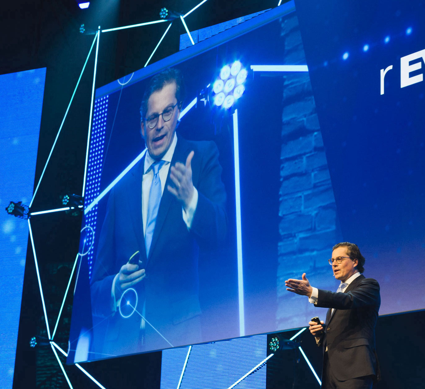 Kristof Vereenooghe (President and CEO of EVBox Group) speaking at REVOLUTION Conference