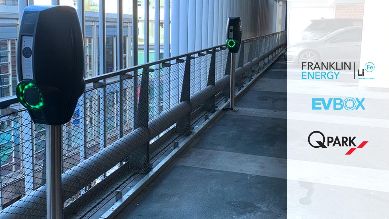 PEVBox BusinessLine charging stations at Q-Park