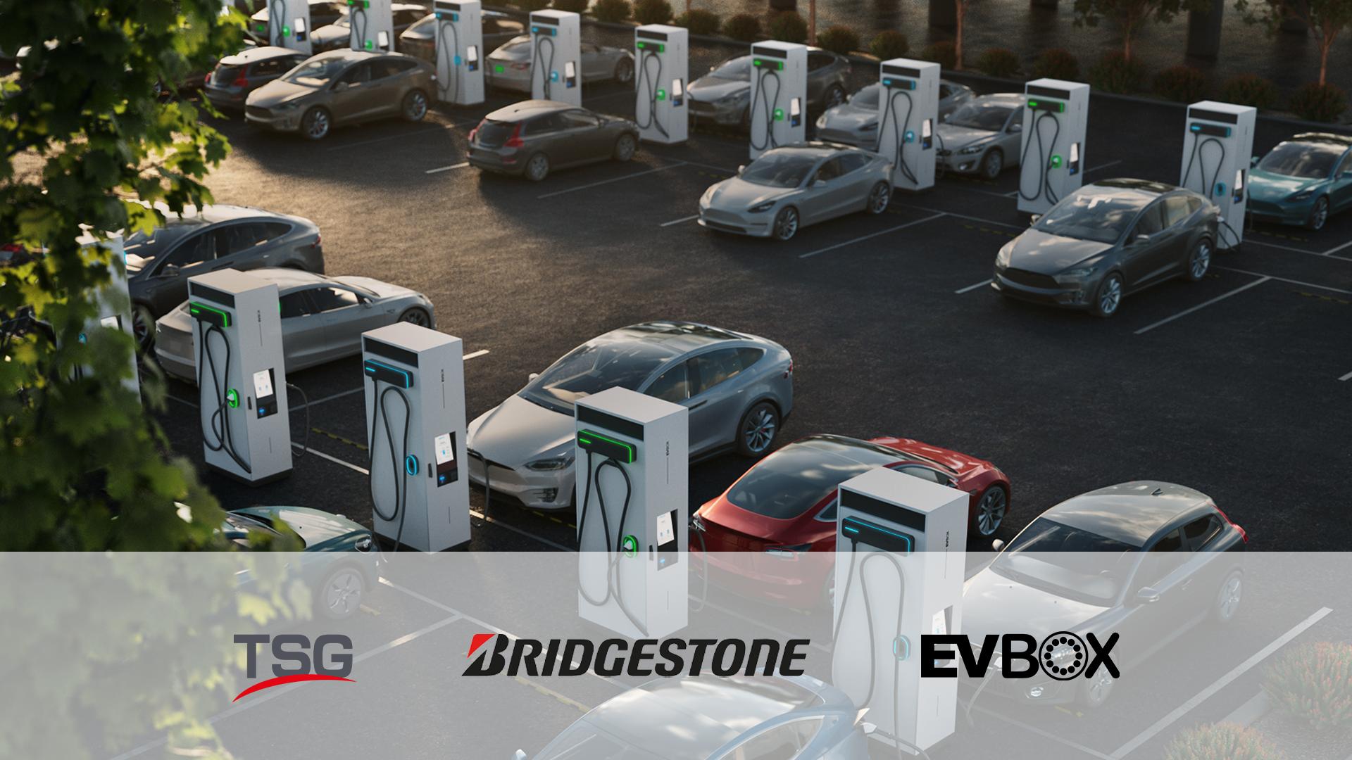 Bridgestone, TSG en EVBox Group gaan een samenwerking aan voor de uitbreiding van het Europese laadnetwerk.