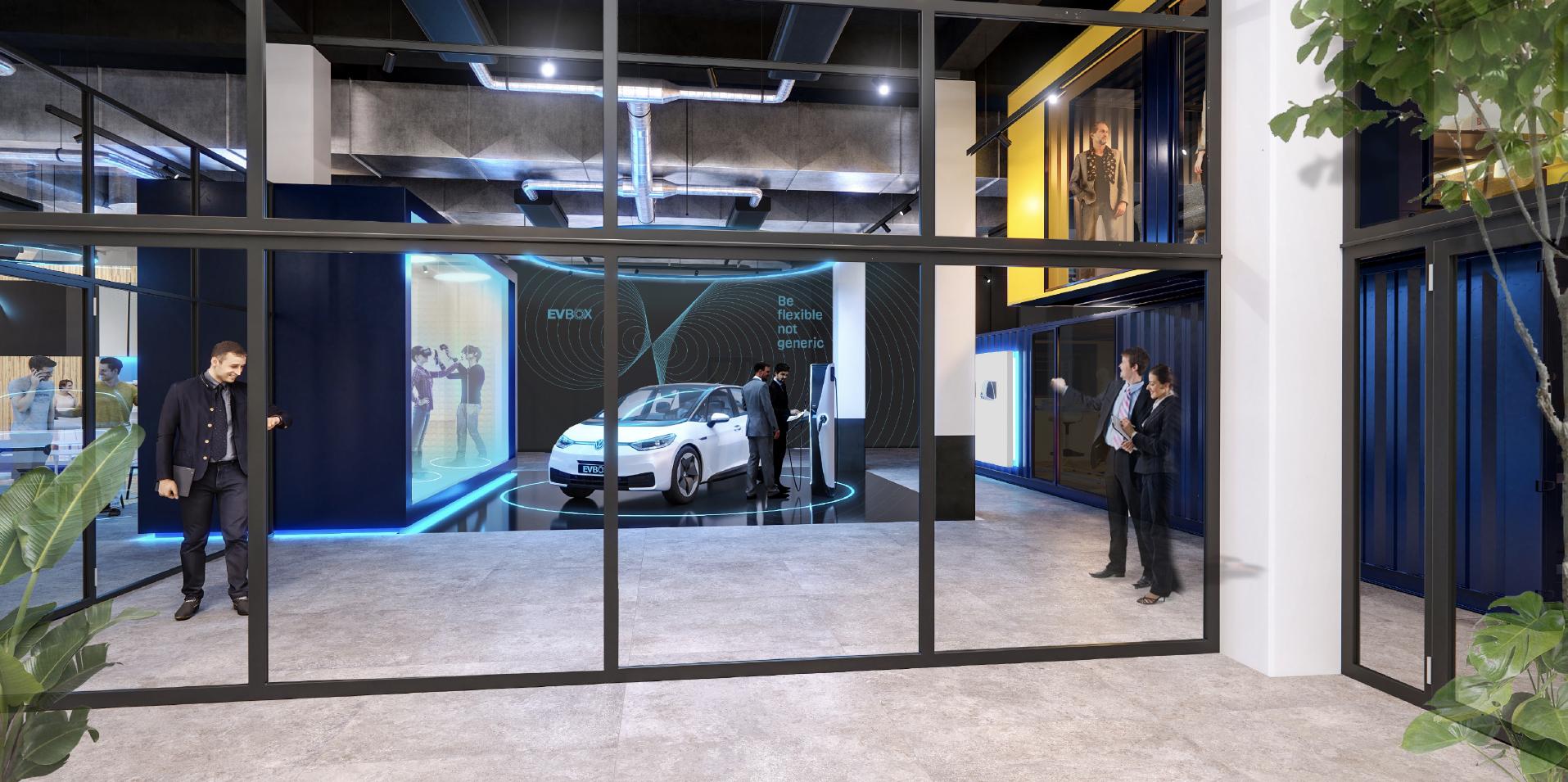 EVBox showroom innovation et produits au siège social Amsterdam.png