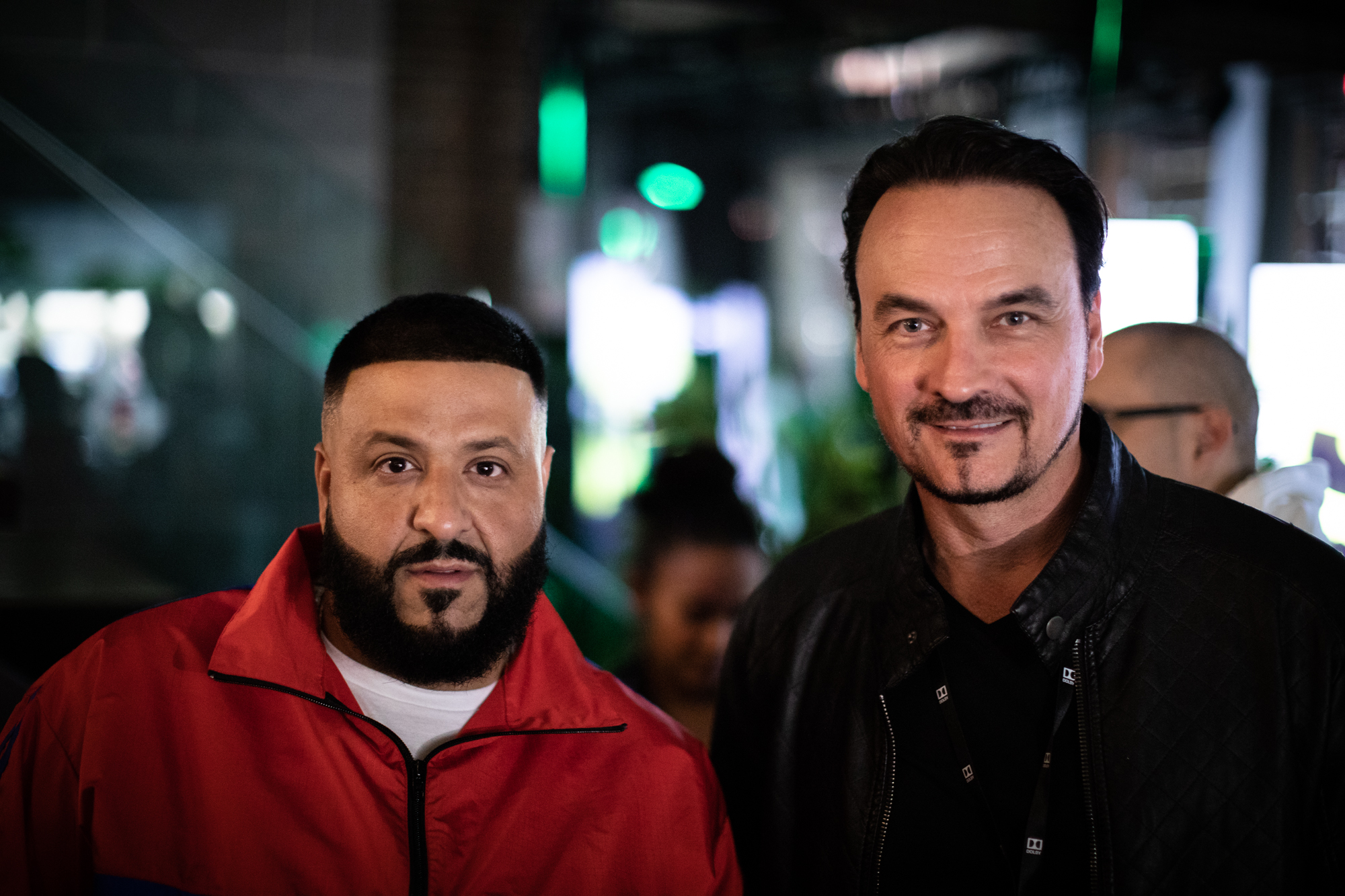 DJ Khaled & Dolby's VP of Design Vince Voron at Wu-Tang Clan Tribute Opening at Dolby Soho