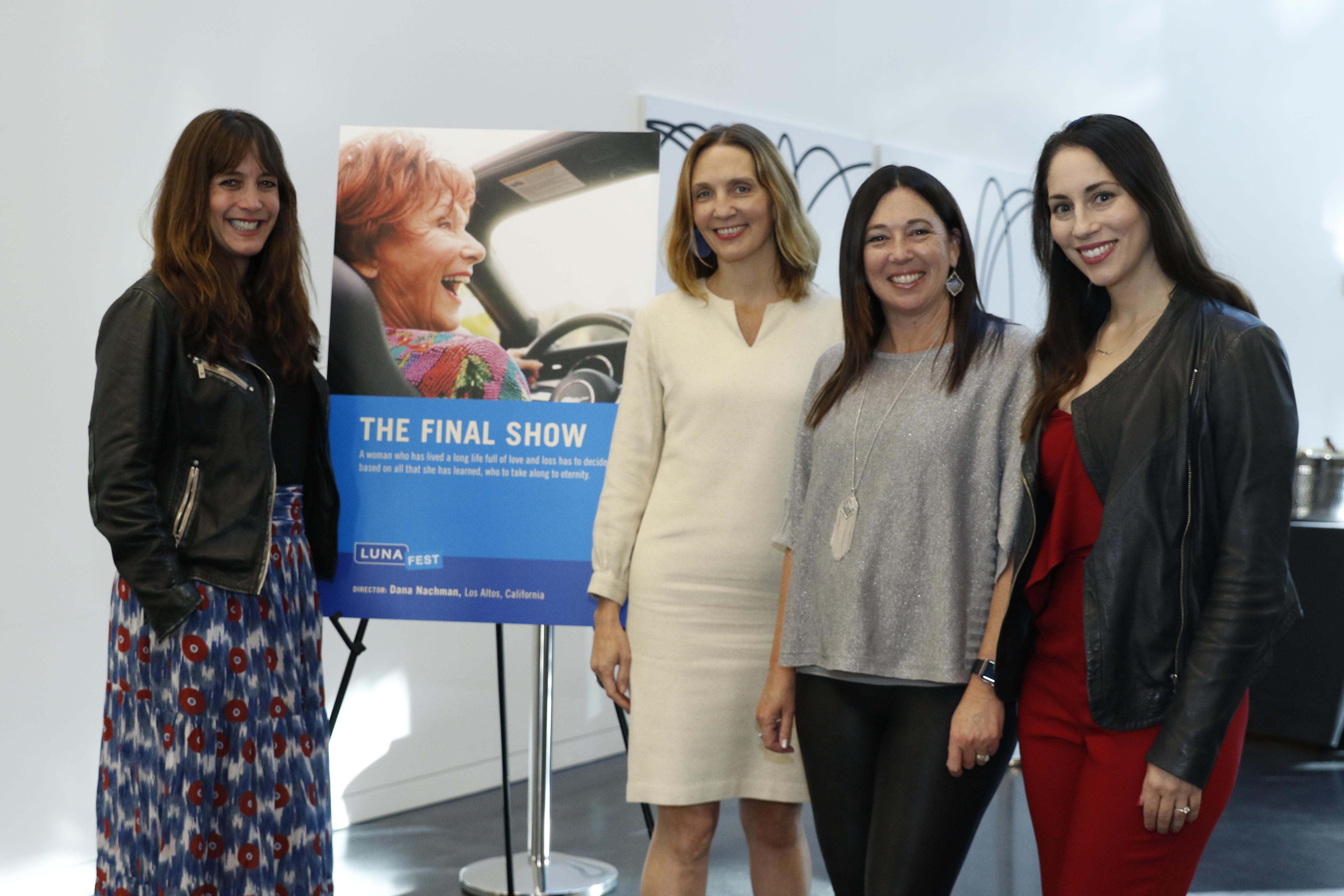 Dana Nachman, Amanda Heier, Jennifer Bowcock, and Lauren Goode at LUNAFEST