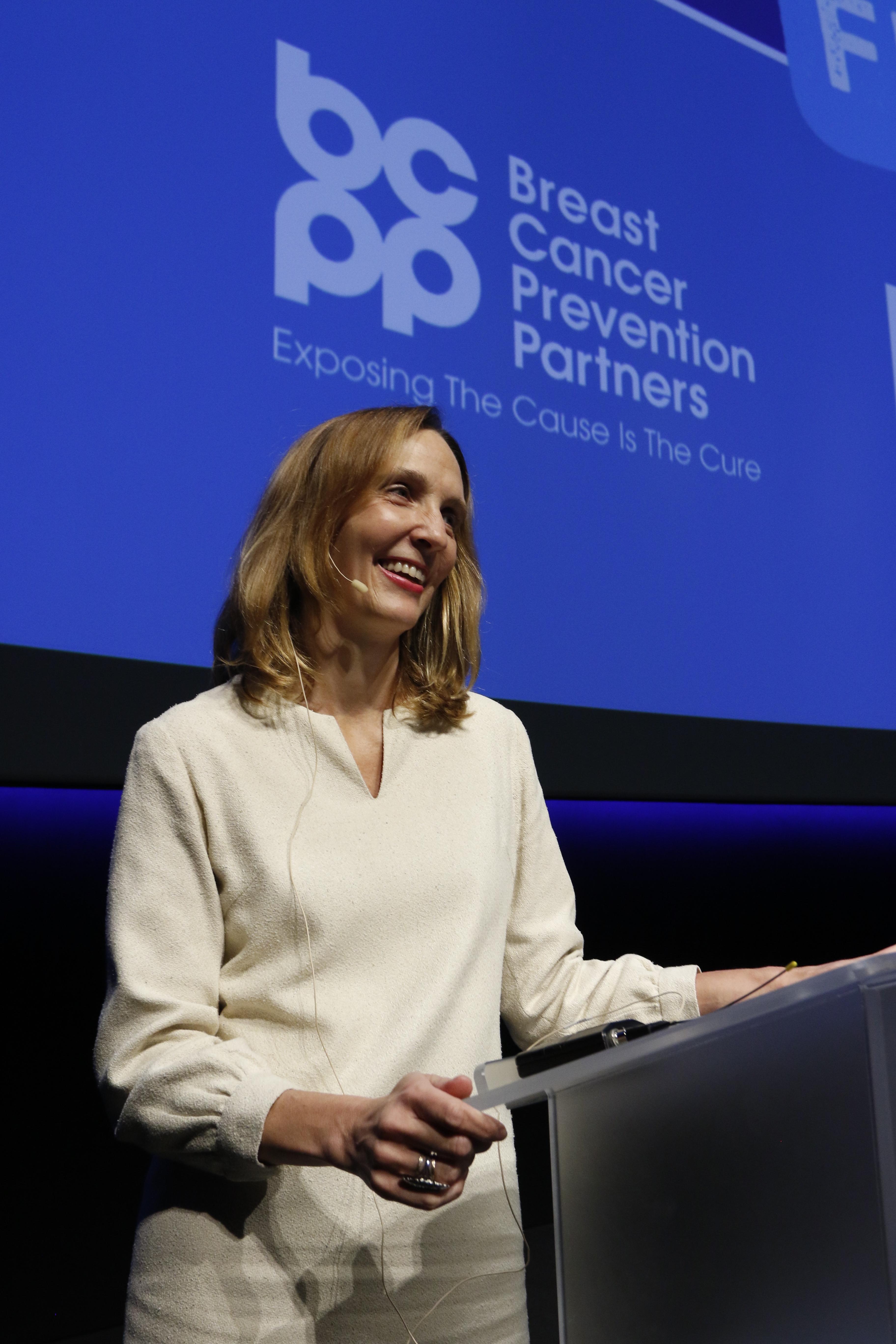 Breast Cancer Prevention Partners CEO Amanda Heier speaks at LUNAFEST