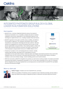 Building a global leader in automation solutions - News and insight