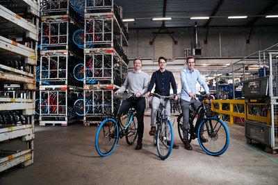 Dirk de Bruijn, Richard Burger and Martijn Obers, co-founders of Swapfiets (Photo: Ernst de Groot)