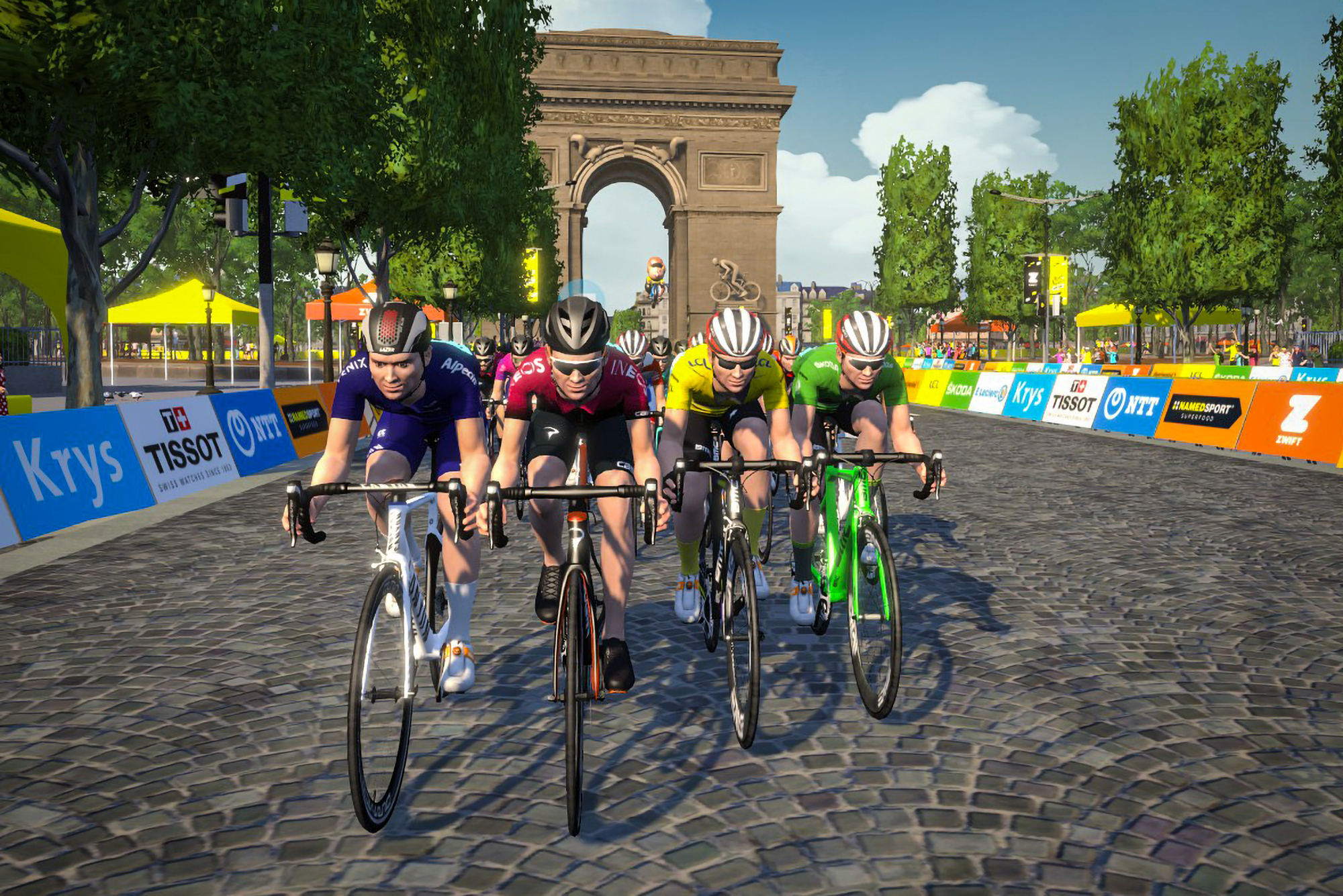 Tibco Silicon Valley Bank And Ntt Pro Cycling Team Crowned Virtual Tour De France Champions On The Champs Elysees Zwift News