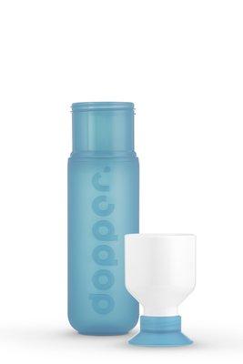 0.3 - 0857 - Dopper Original - Blue Lagoon - Bottle&Cup