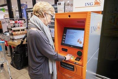 Spraakfuntie op ING-geldautomaat bij AH