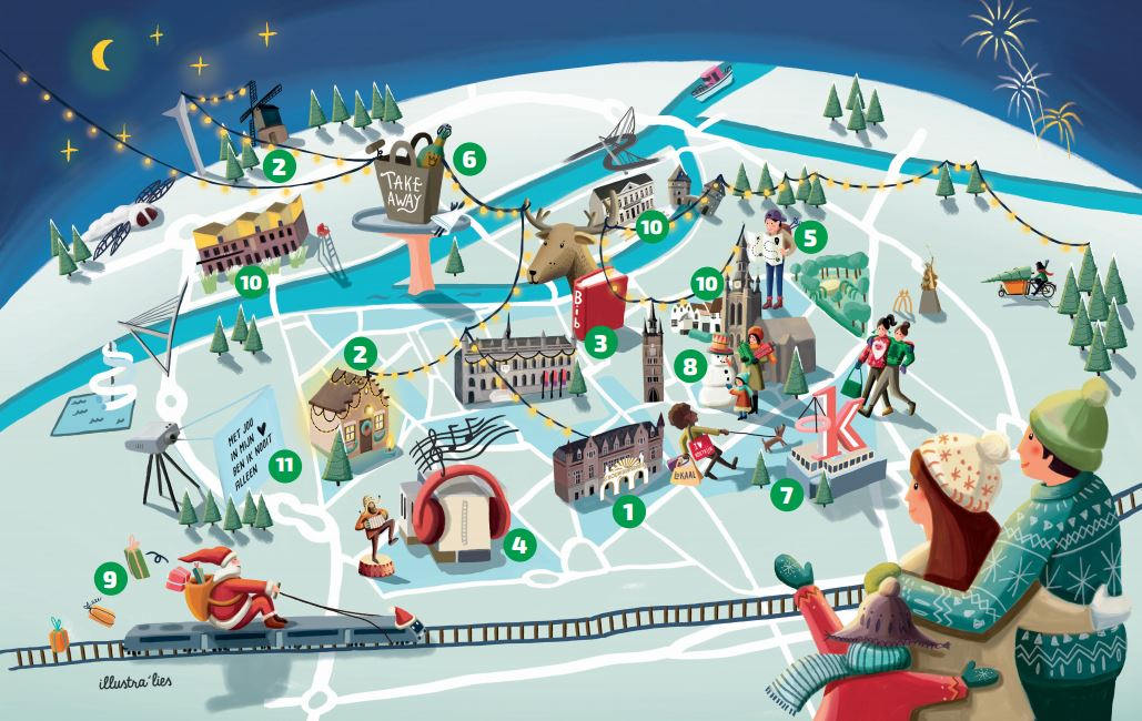 Pretparkkaart 'Dromen van de winter'