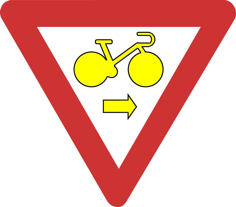 Verkeersbord B22 rechtsaf door rood
