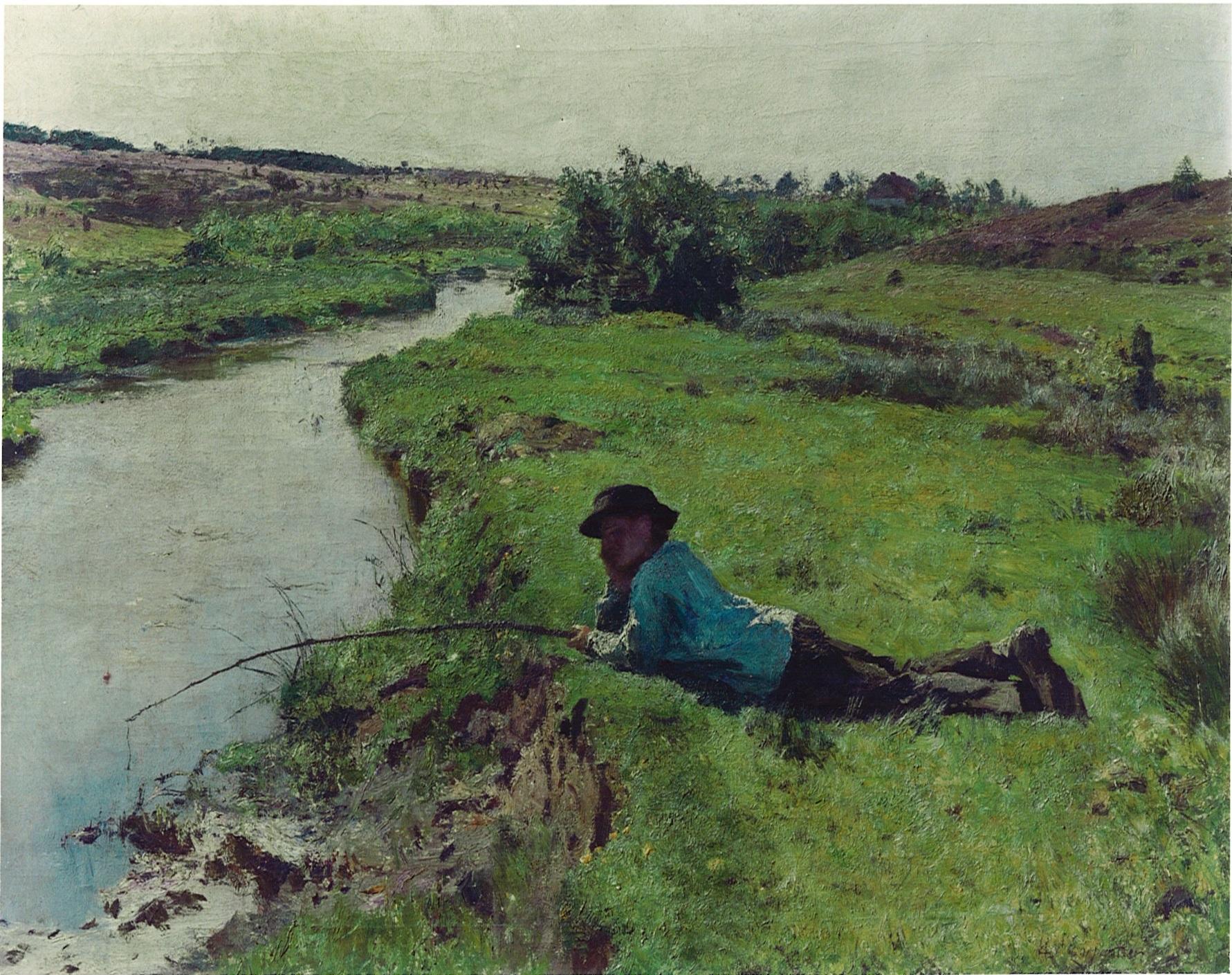 Jonge Visser van kunstschilder Evariste Carpentier