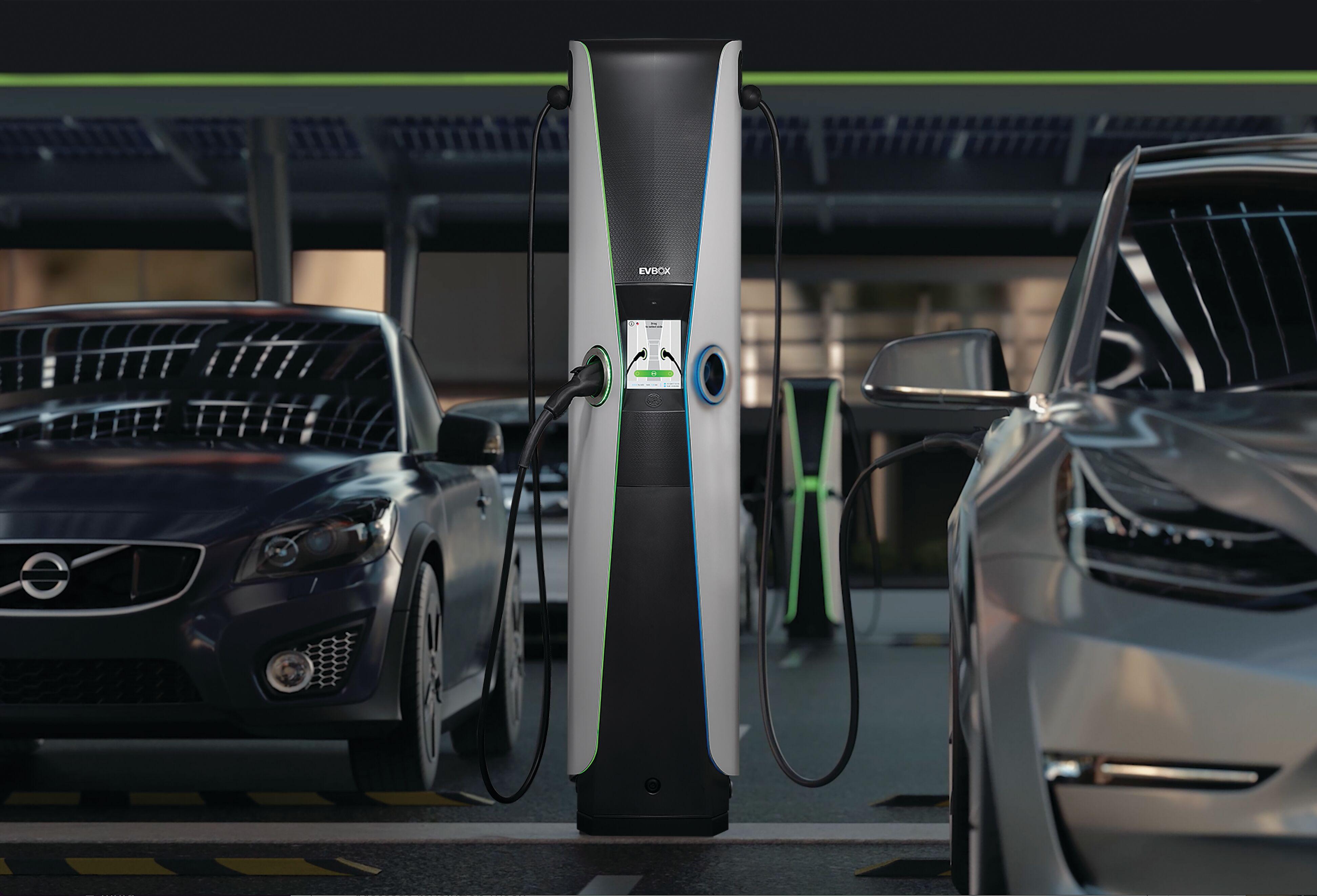 EVBox Iqon – Level 2 commercial charging station