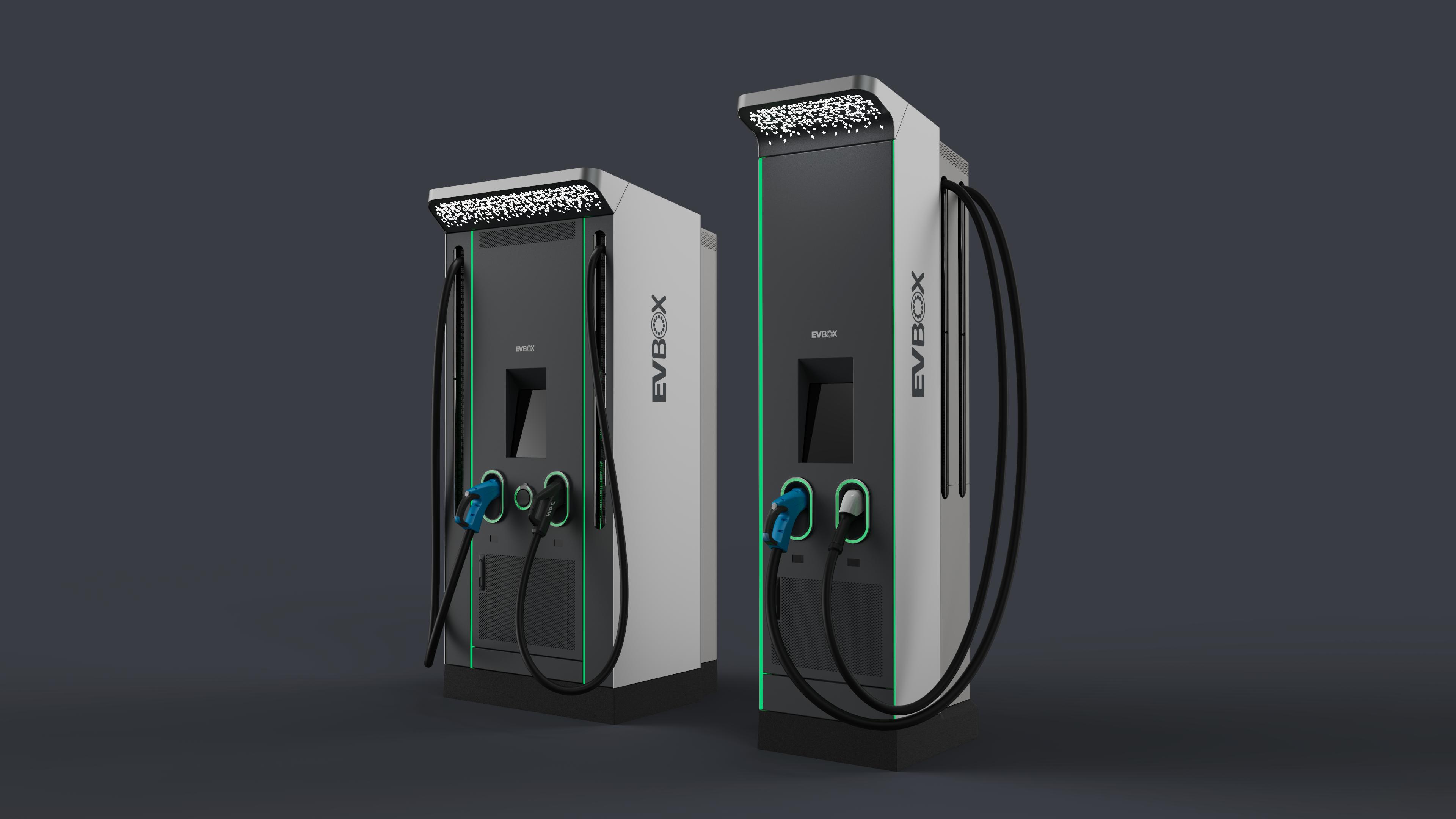 Left: EVBox Troniq 100, Right: EVBox Ultroniq
