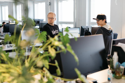 Wolt employees Kalle Karkkainen and Hoiman Tang