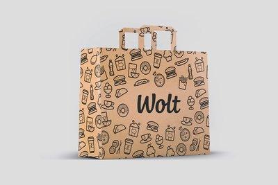 Wolt paper bag