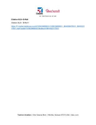 Citation XLS+ BRoll