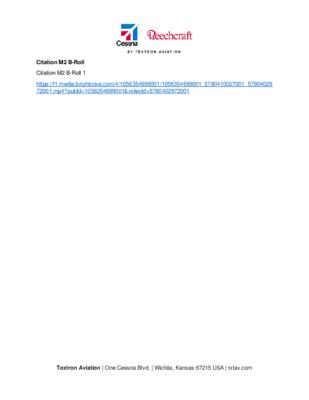 Citation M2 BRoll