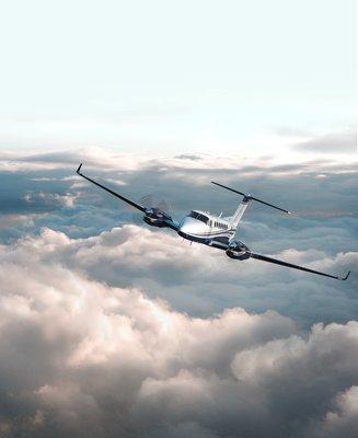 King-Air-aerial