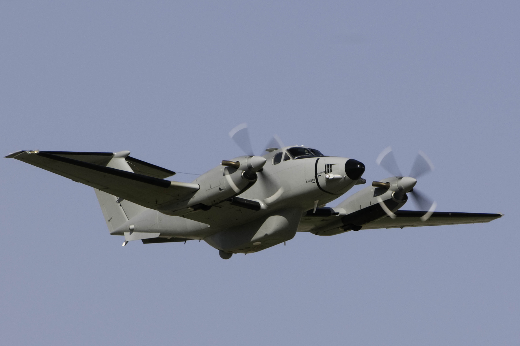 Beechcraft King Air 300 Medium Altitude Reconnaissance and Surveillance System (MARSS) aircraft in U.S. Army service