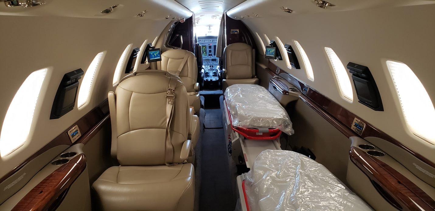 AMREF Flying Doctors Cessna Citation Sovereign interior.jpg