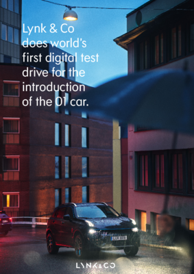 210304 Lynk & Co does world's first digital test drive for the introduction of the 01 car