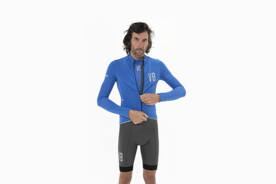 Velobici-Mens-Cobalto-Thermal-Jersey-Front
