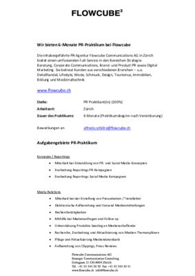 Flowcube PR Praktikum