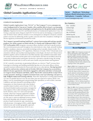 GCAC Updated Profile - June 7 2021